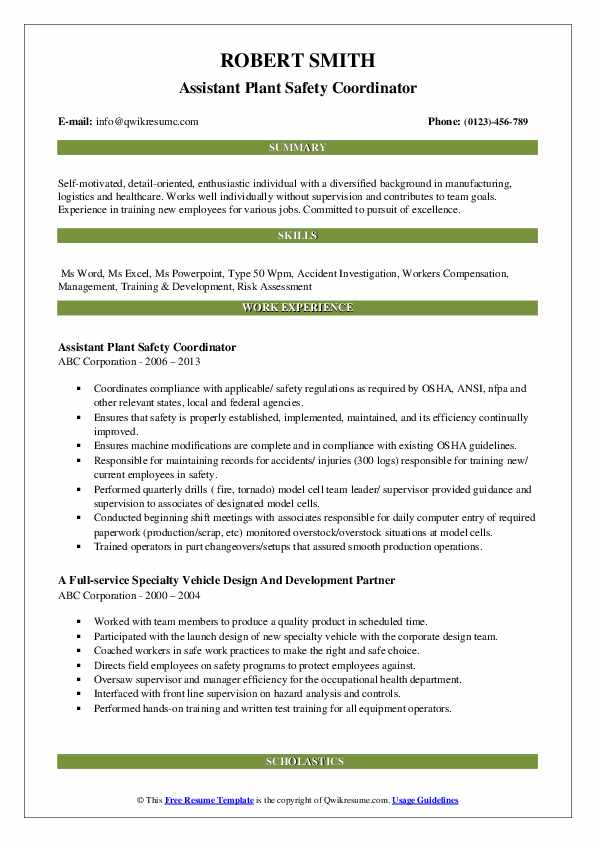 safety coordinator resume samples qwikresume pdf scannable guidelines career objective Resume Safety Coordinator Resume