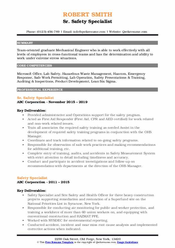 safety specialist resume samples qwikresume food pdf diesel technician sample technical Resume Food Safety Specialist Resume
