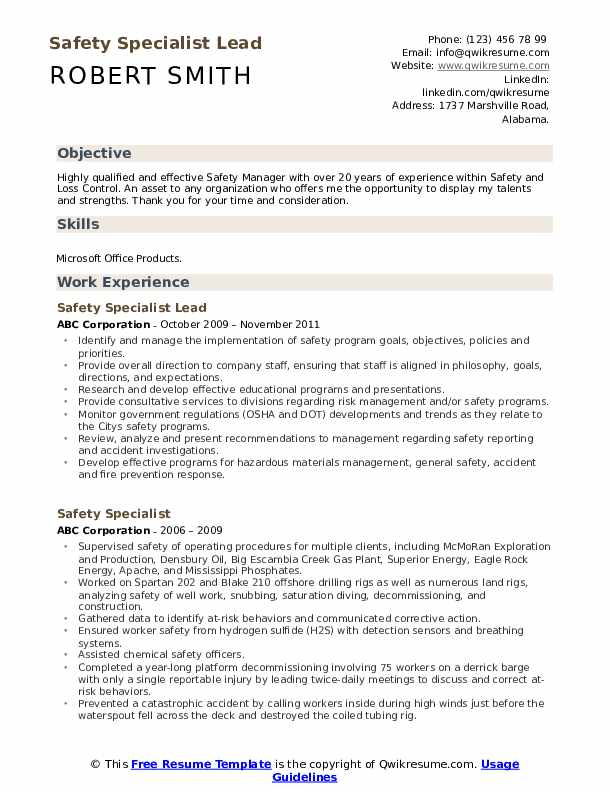 safety specialist resume samples qwikresume food pdf yacht crew hiring manager associate Resume Food Safety Specialist Resume