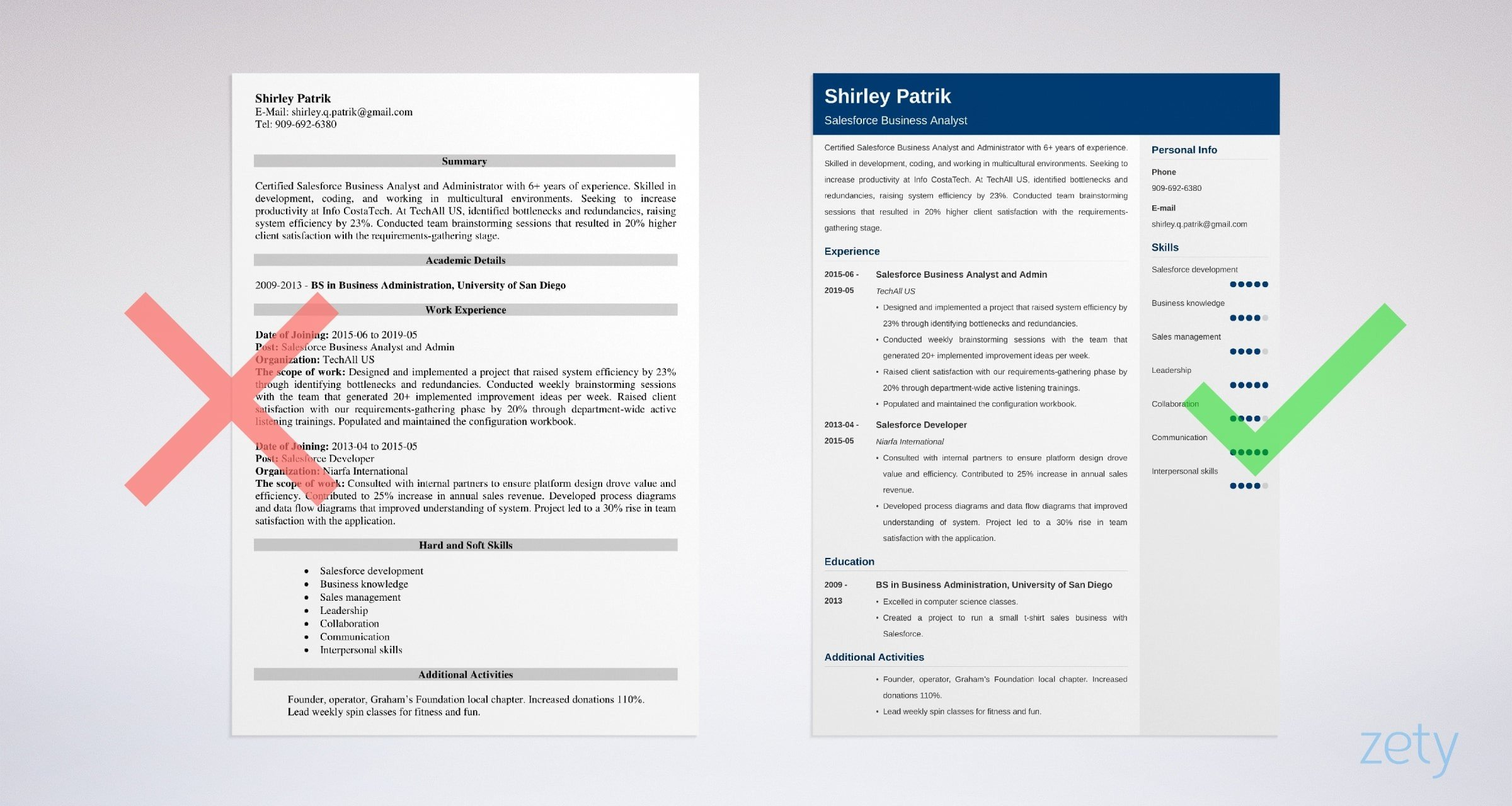 salesforce resume sample and complete writing guide tips for administrator example Resume Sample Resume For Salesforce Administrator