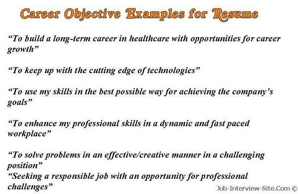 sample career objectives examples for resumes resume objective good statement Resume Professional Resume Objective Sample