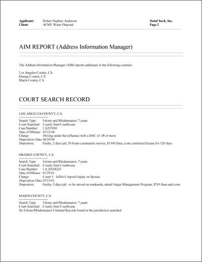 sample employee background check report datacheck employment form resume golf cart Resume Resume Background Check