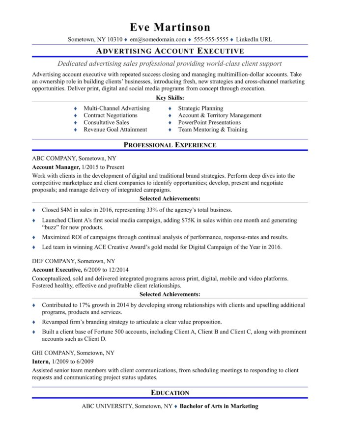 sample resume for an advertising account executive monster fashion chief development Resume Fashion Account Executive Resume