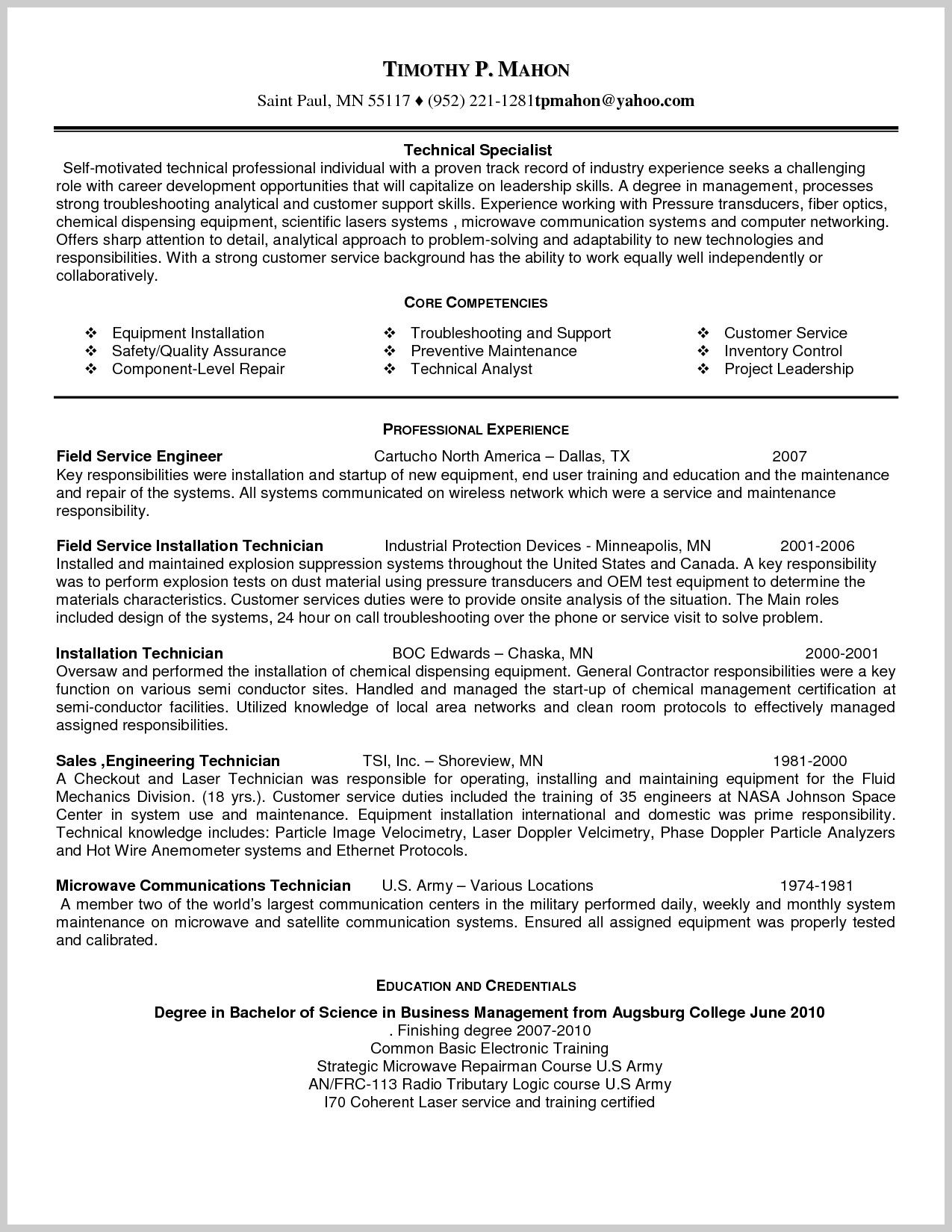 sample resume for field service technician brilliant ideas customer engineer with Resume Technical Service Engineer Resume