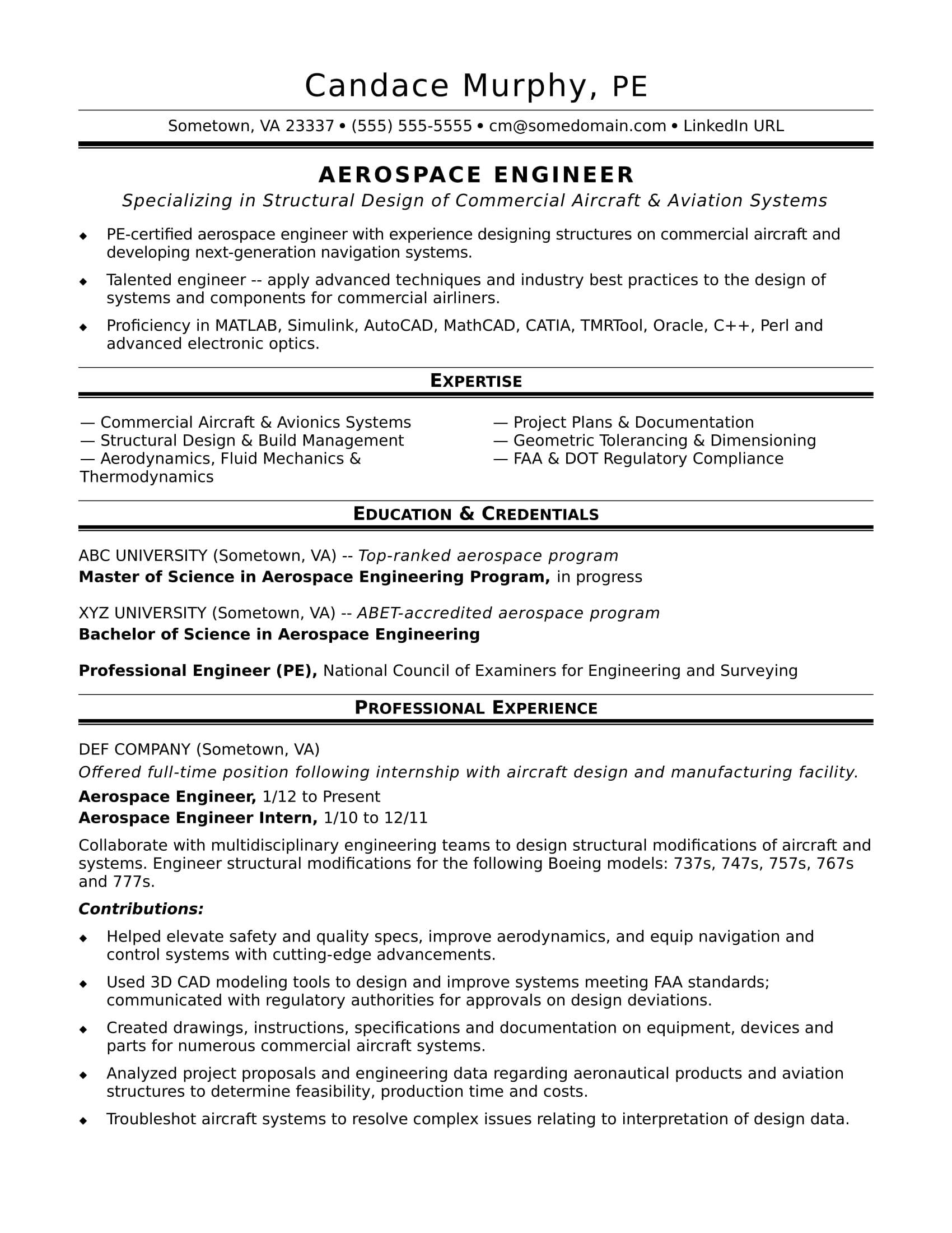 sample resume for midlevel aerospace engineer monster avionics examples super pantip full Resume Avionics Resume Examples