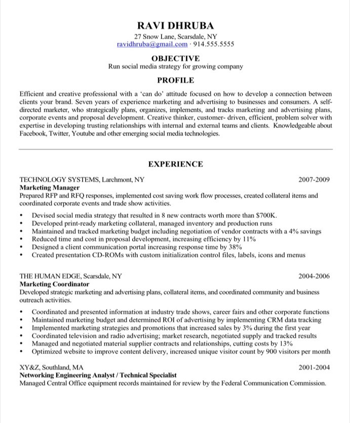 sample resume makeover social media marketing blog blue sky resumes 55before front desk Resume Social Media Resume Sample
