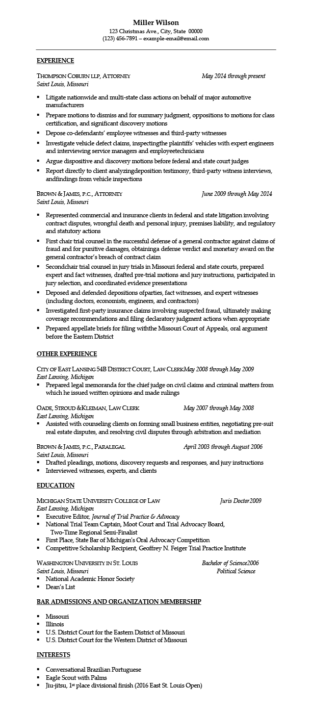sample resumes for attorney legal law students experienced attorneys resume samples Resume Experienced Attorney Resume Samples