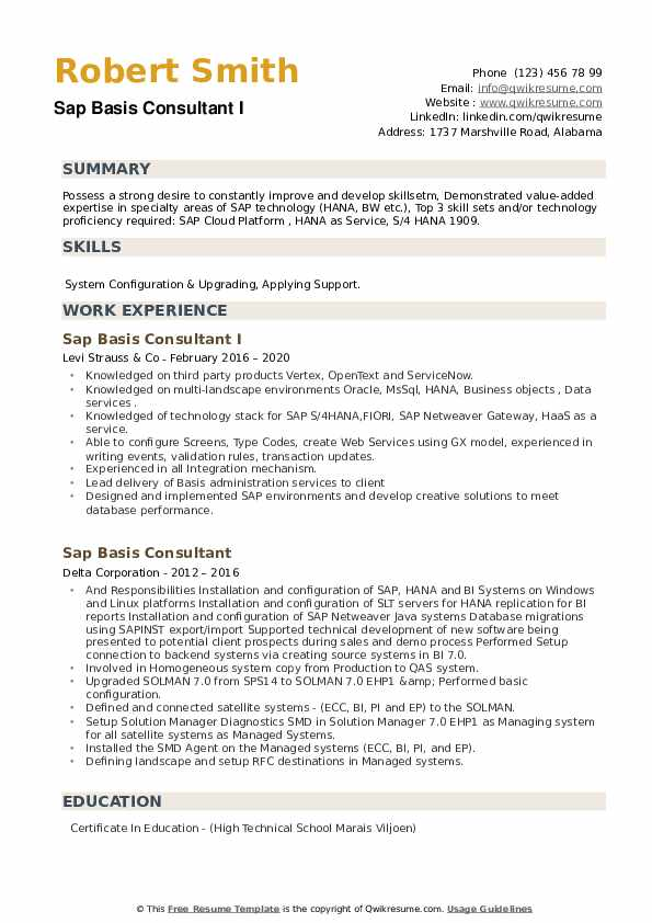 sap basis consultant resume samples qwikresume years experience pdf sample for teaching Resume Sap Basis Resume 8 Years Experience