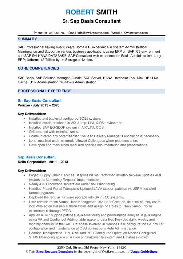 sap basis consultant resume samples qwikresume years experience pdf test analyst sample Resume Sap Basis Resume 8 Years Experience