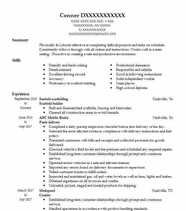 scaffold builder resume example resumes livecareer student skills for acting sap fico Resume Resume Scaffold Student
