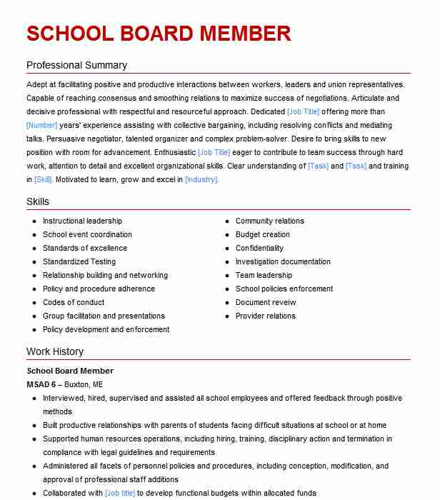 school board member resume example greenwich township of education stewartsville new for Resume Ece Resume For School Board
