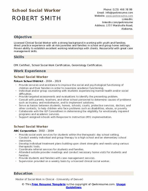 school social worker resume samples qwikresume work examples pdf squarespace objective Resume Social Work Resume Examples 2020