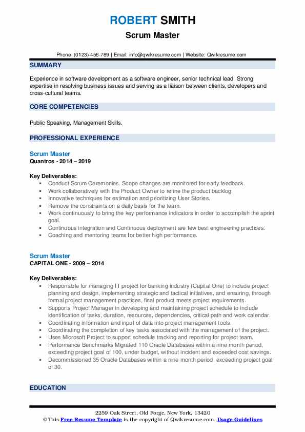 scrum master resume samples qwikresume linkedin pdf admin staff should you put quote on Resume Scrum Master Resume Linkedin