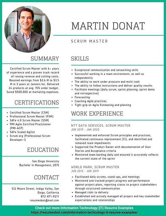 scrum master resume samples templates pdf resumes bot linkedin example lab assistant most Resume Scrum Master Resume Linkedin