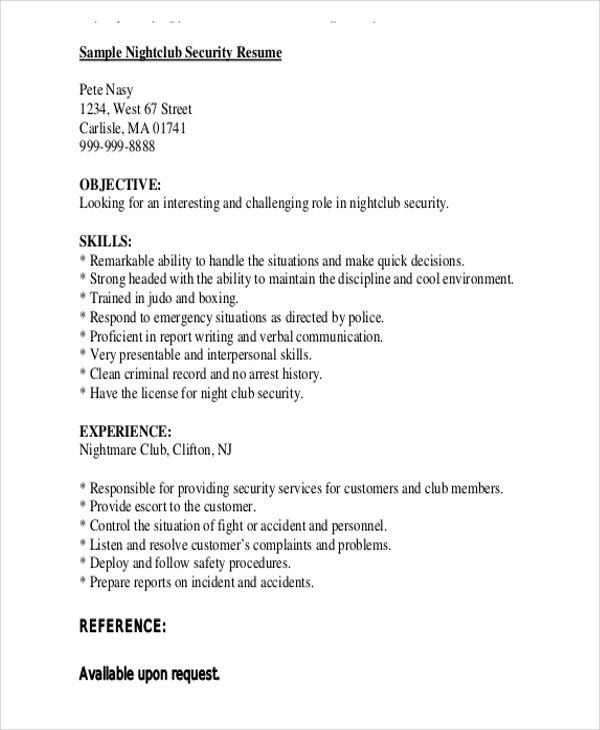 security guard resumes free word pdf format premium templates job description sample Resume Security Guard Job Description Sample Resume