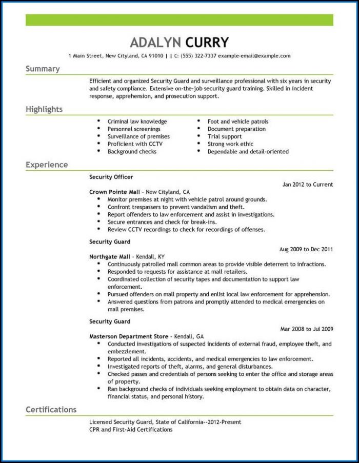 security patrol driver resume november personal example of guard 700x903 attach on Resume Personal Security Resume