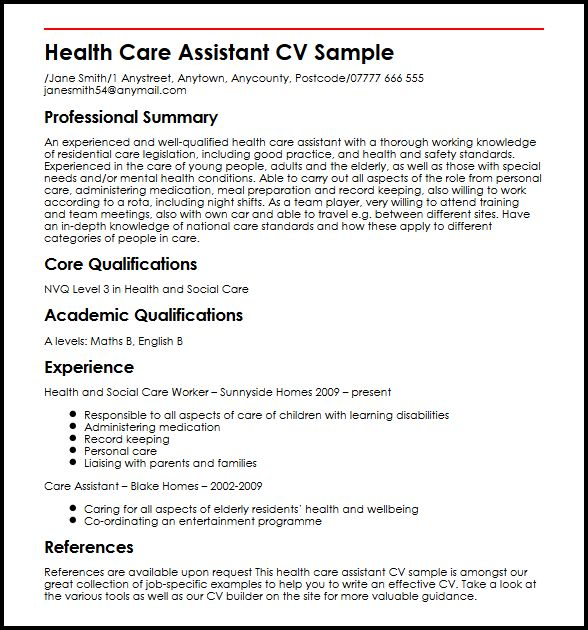 see our assistant cv example myperfectcv home health aide resume sample care core skills Resume Home Health Aide Resume Sample