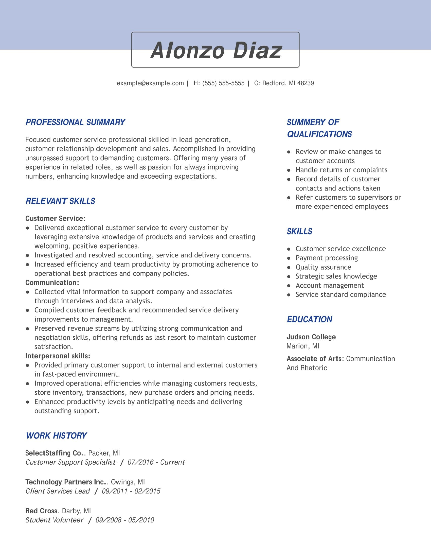 see our top customer service resume example good summary for support specialist Resume Good Summary For Resume Customer Service
