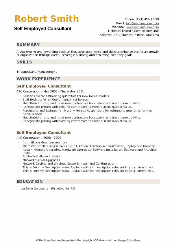 self employed consultant resume samples qwikresume writing pdf data analyst template Resume Resume Writing Self Employed