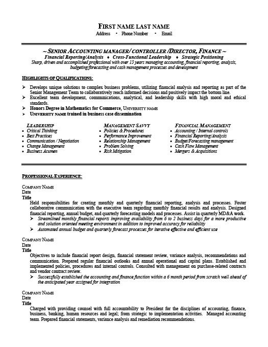 senior accounting manager resume template premium samples example accountant examples Resume Senior Accountant Accounting Manager Resume