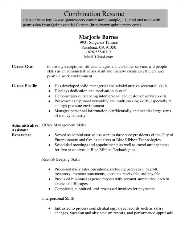 senior administrative assistant resume templates pdf word free premium specialist sample Resume Administrative Specialist Resume Sample