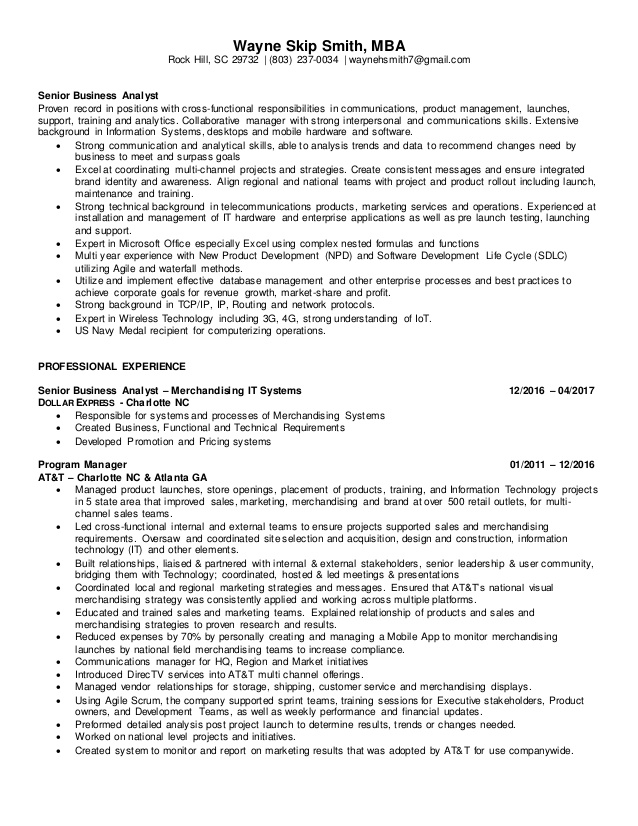 senior business analyst resume letter sample assistant purchase manager good objective Resume Senior Business Analyst Resume
