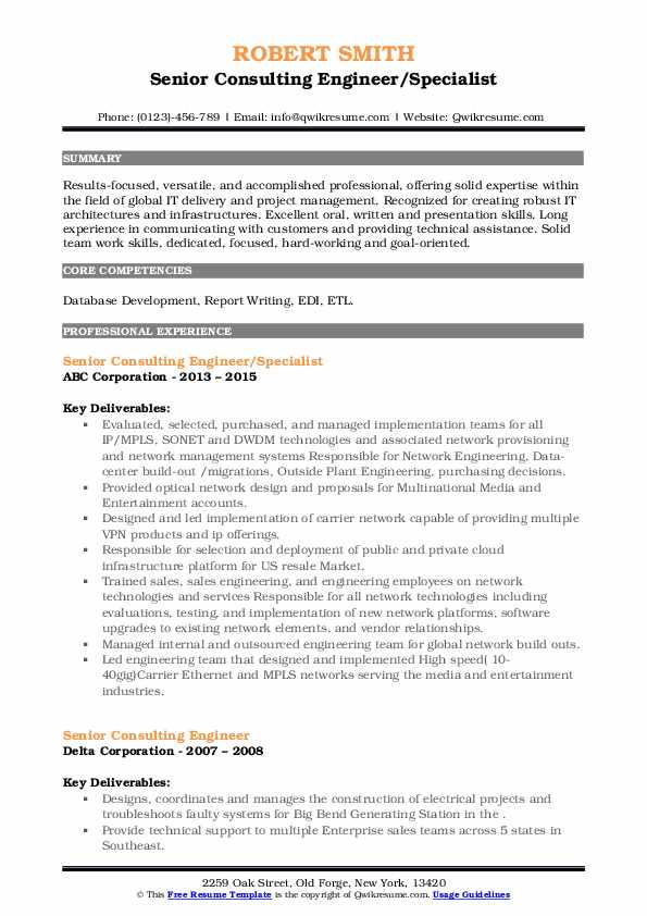 senior consulting engineer resume samples qwikresume packet core pdf clean professional Resume Packet Core Engineer Resume