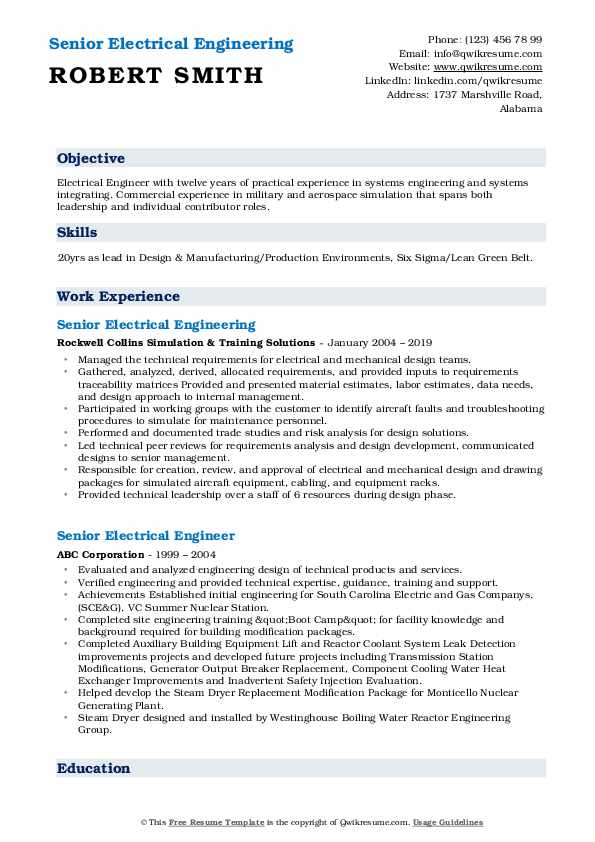 senior electrical engineer resume samples qwikresume title for pdf excellent templates Resume Resume Title For Electrical Engineer