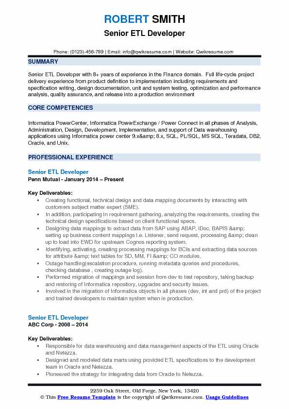 senior etl developer resume samples qwikresume talend pdf production coordinator examples Resume Talend Developer Resume