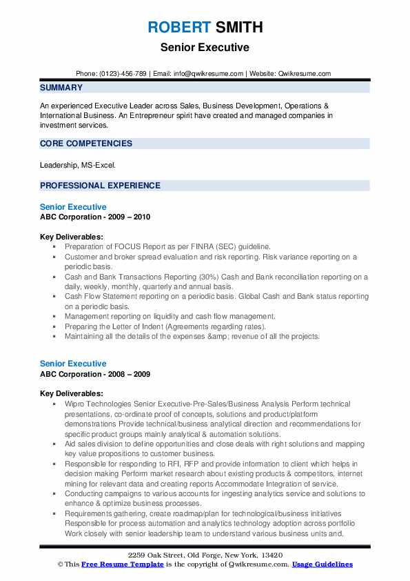 senior executive resume samples qwikresume core qualifications pdf export import format Resume Executive Core Qualifications Resume