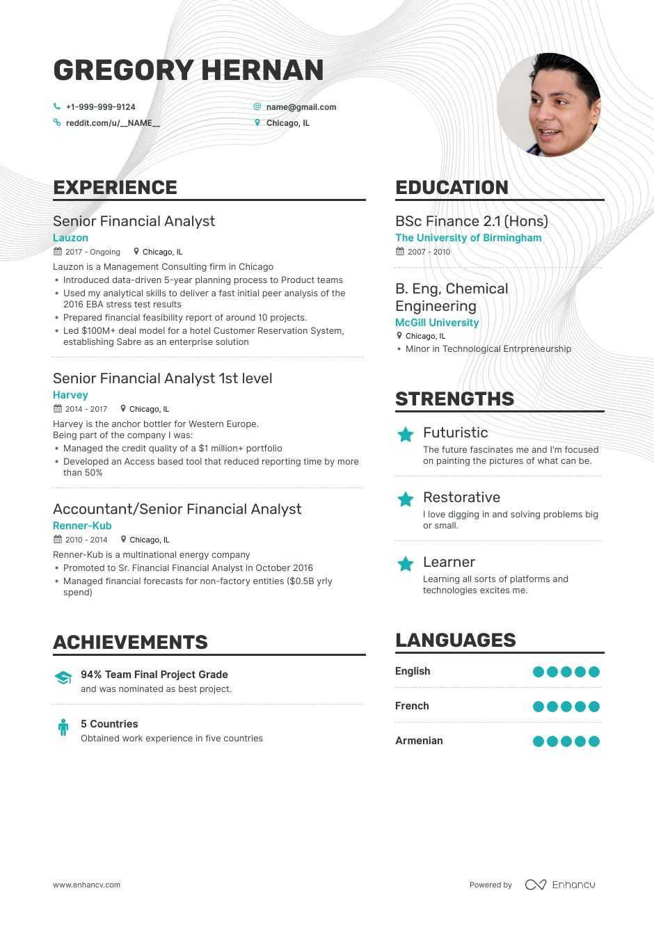senior financial analyst resume examples pro tips featured enhancv objective electrical Resume Financial Analyst Resume Objective