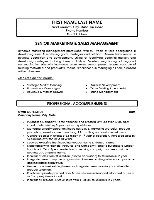 senior marketing and manager resume template premium samples example summary line about Resume Senior Marketing Manager Resume Summary