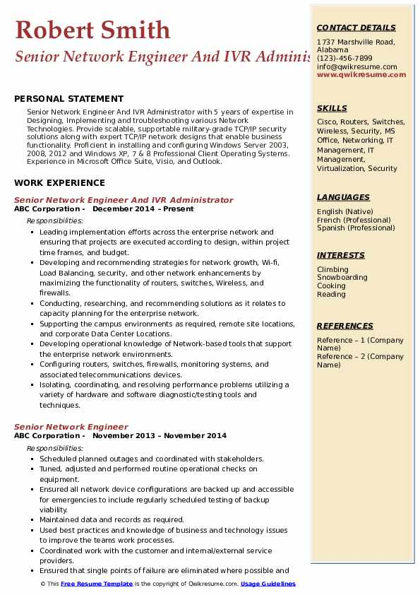 senior network engineer resume samples qwikresume cisco ise pdf product manager keywords Resume Cisco Ise Engineer Resume