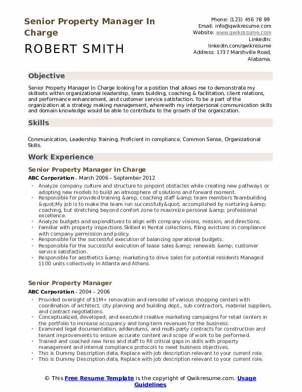 senior property manager resume samples qwikresume apartment example pdf structural Resume Apartment Property Manager Resume Example