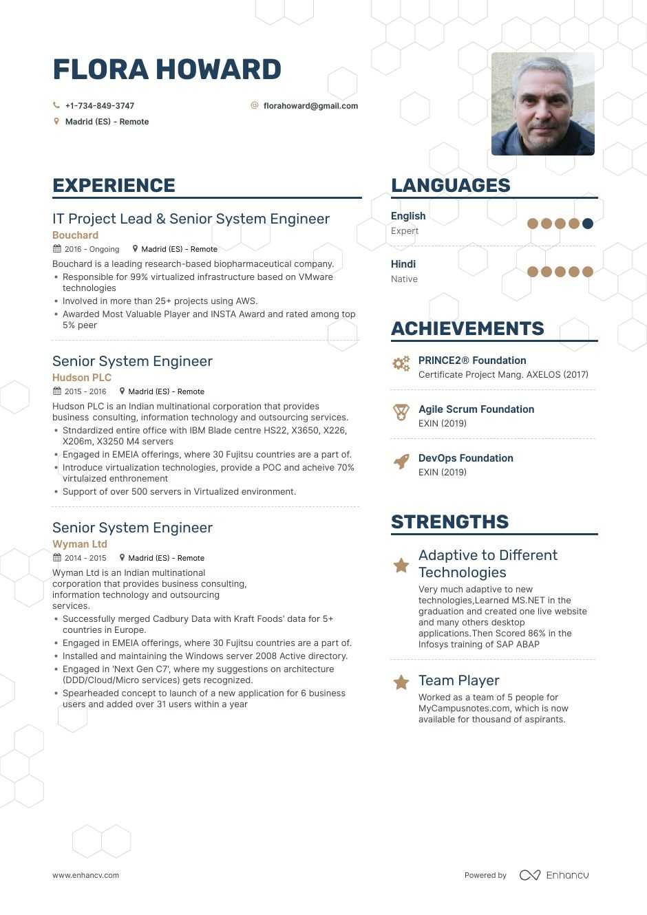 senior system engineer resume example for enhancv systems free templates microsoft office Resume Senior Systems Engineer Resume