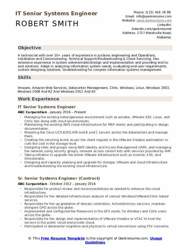 senior systems engineer resume samples qwikresume pdf study abroad experience on example Resume Senior Systems Engineer Resume