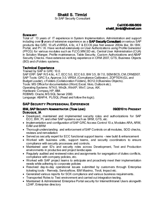 shakil sap security resume sample for years experience resume2 entry level illustrator Resume Sample Resume For 13 Years Experience