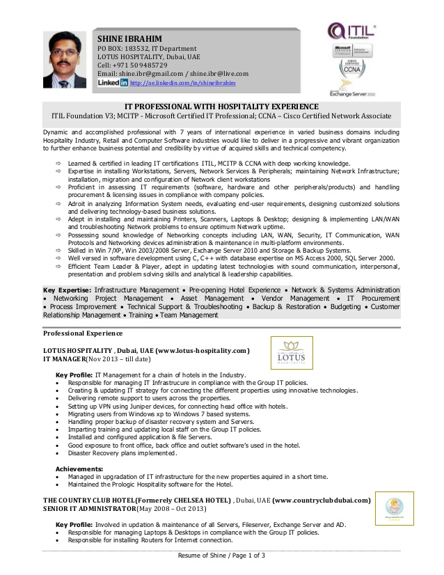 shine it professional with hospitality experience resume pre opening hotel outpatient Resume Pre Opening Hotel Experience Resume