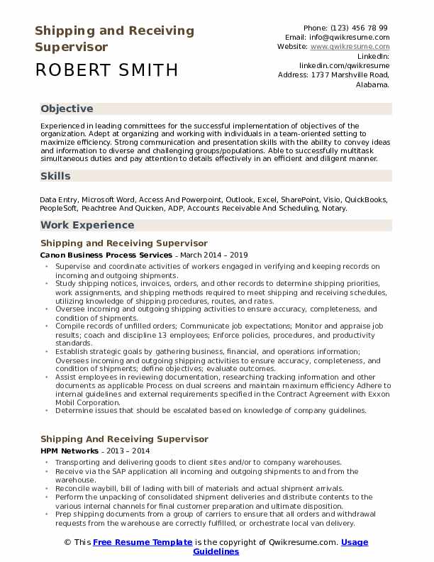 shipping and receiving supervisor resume samples qwikresume objective examples pdf entry Resume Shipping And Receiving Resume Objective Examples