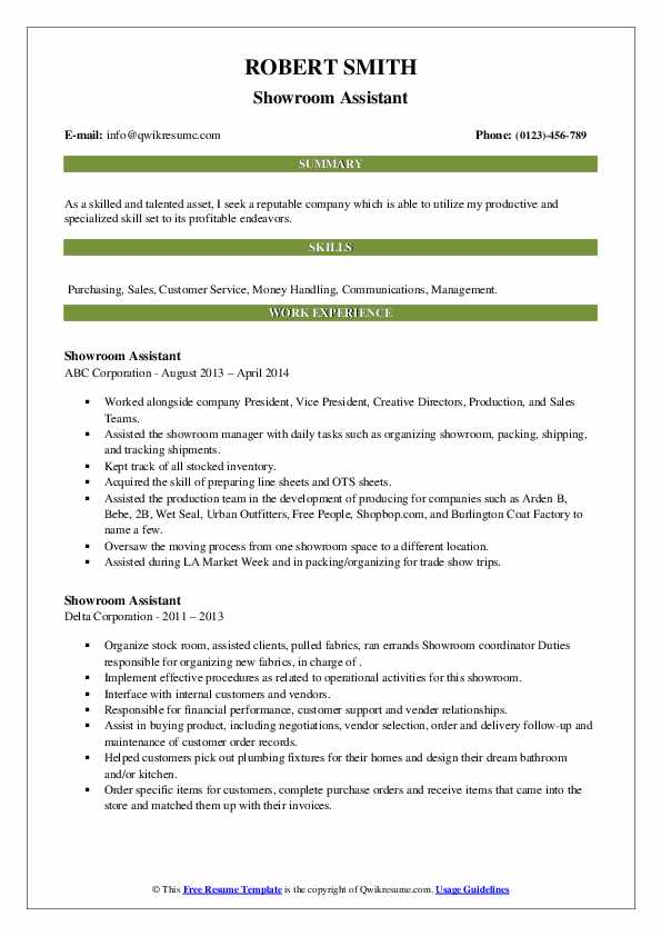 showroom assistant resume samples qwikresume pdf microsoft word templates tips for Resume Showroom Assistant Resume