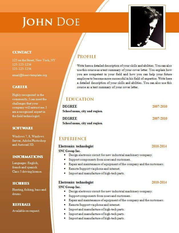 simple resume format free in ms word template downloadable latest professional examples Resume Latest Professional Resume Format Free Download