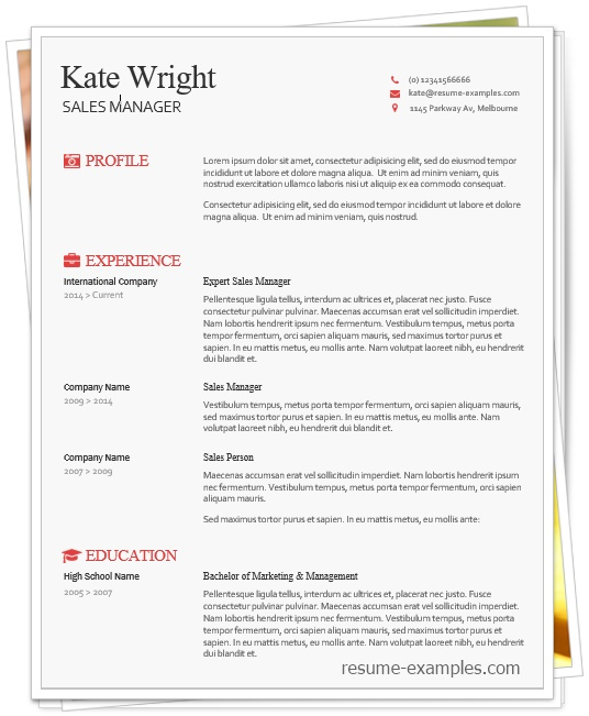 smart freebie word resume template free document anticipated graduation date on examples Resume Word Document Resume Template