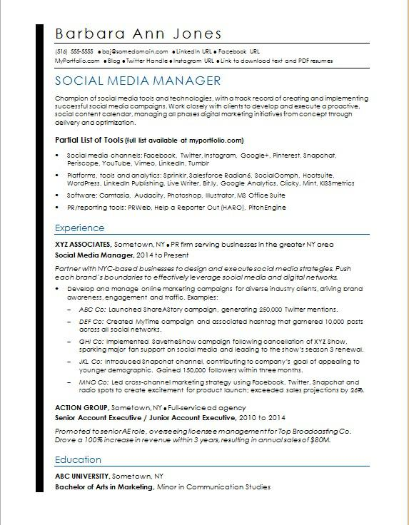 social media resume sample monster manager access control front desk objective mep Resume Social Media Resume Sample