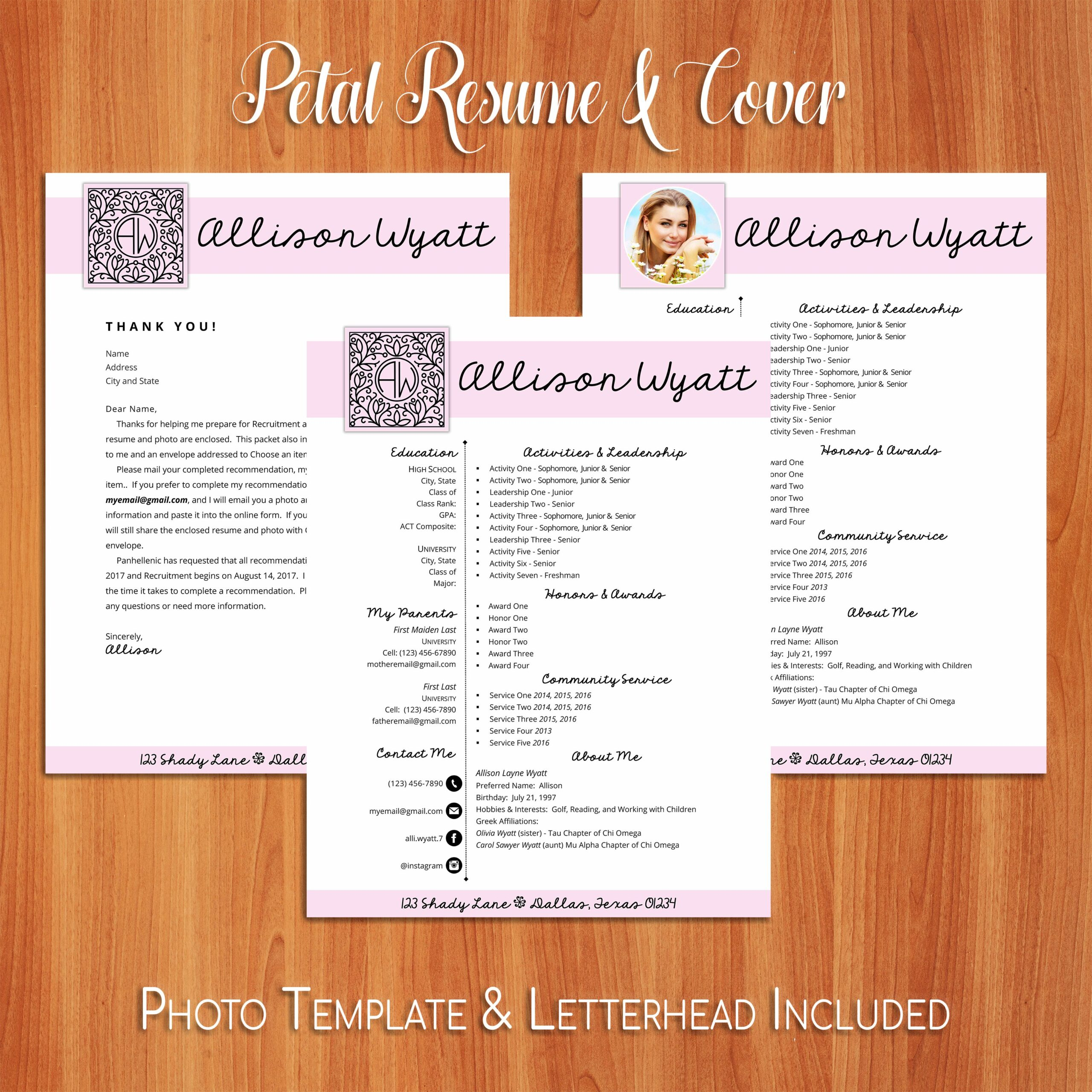 social resume and sorority recruitment packet template options are you ready for socials Resume Sorority Social Resume Template