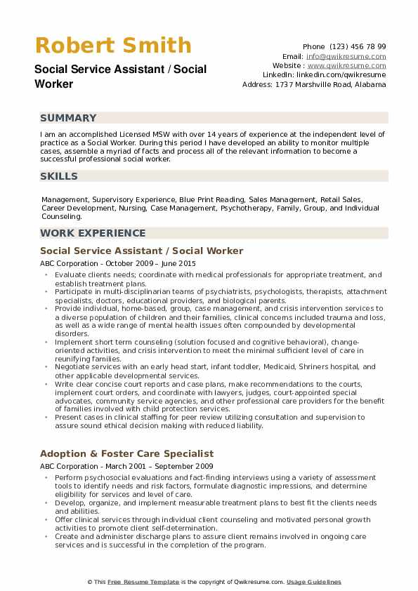 social worker resume samples qwikresume work templates free pdf building project manager Resume Social Work Resume Templates Free