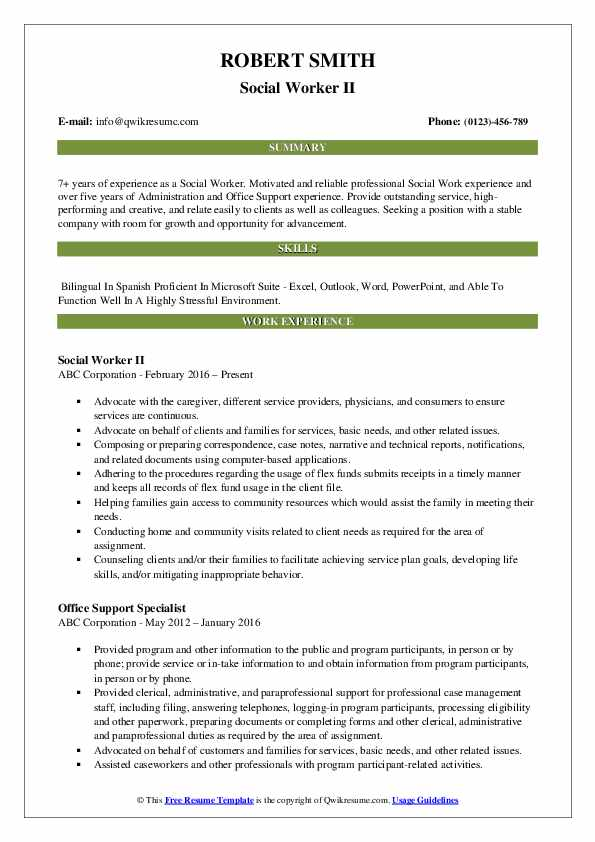 social worker resume samples qwikresume work templates free pdf sap crm technical sample Resume Social Work Resume Templates Free