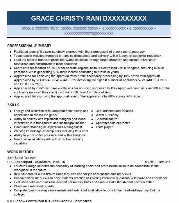 soft skills trainer resume example resumes livecareer best for leather portfolio case Resume Best Soft Skills For Resume