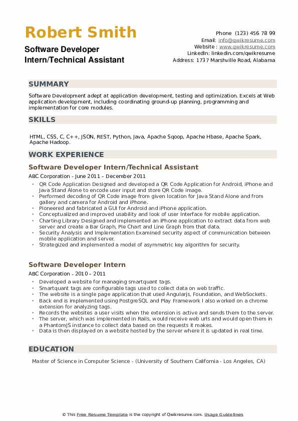 software developer intern resume samples qwikresume headline for fresher pdf sample with Resume Resume Headline For Software Developer Fresher