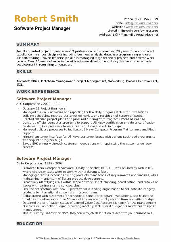 software project manager resume samples qwikresume development summary pdf masters level Resume Software Development Manager Resume Summary