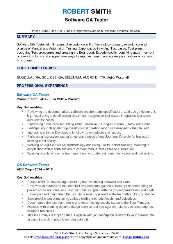 software qa tester resume samples qwikresume testing for year experience pdf action words Resume Software Testing Resume For 3 Year Experience